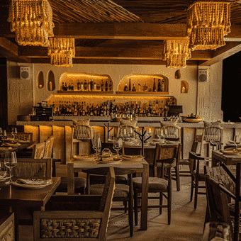 Arte culinario en el restaurante Ilios Cancun