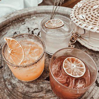 Bebidas refrescantes en Vagalume Tulum