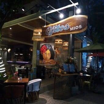 Restaurantes en playa del carmen. Ojitos Míos